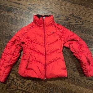 Red Nike puffer jacket